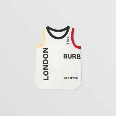 Logo Print Cotton Vest by Burberry