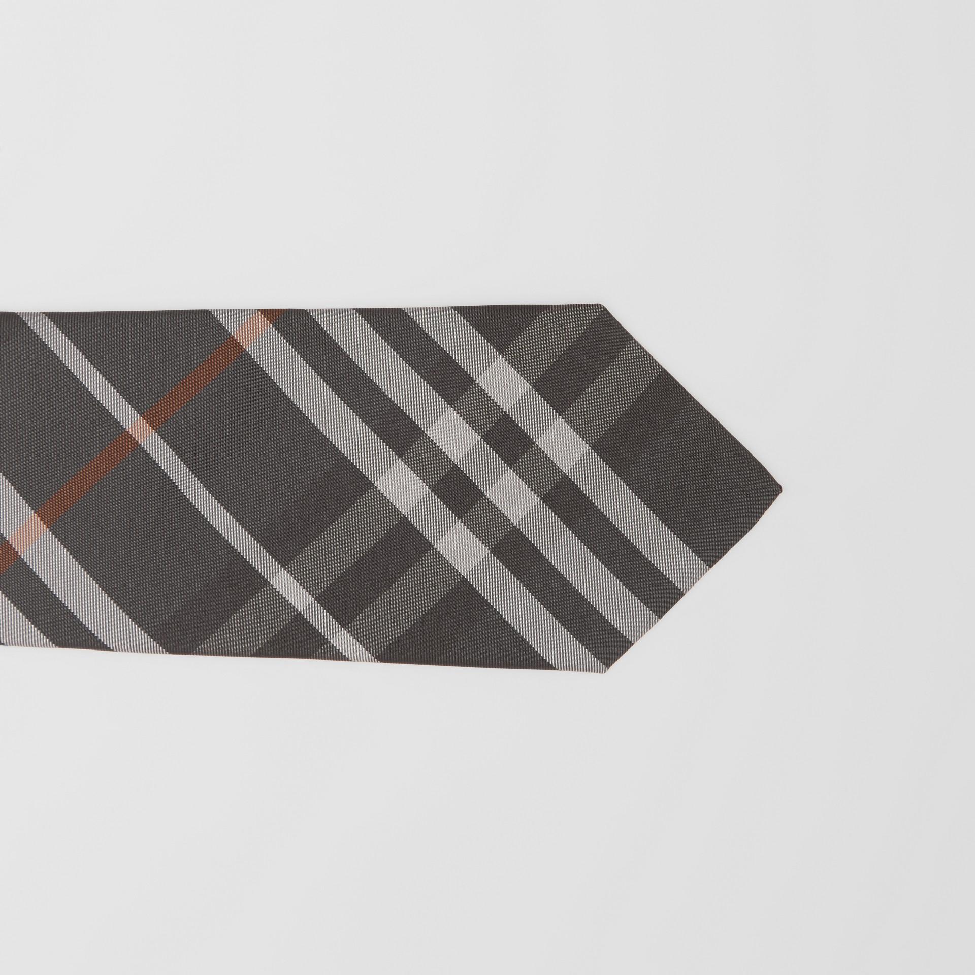 Cravate classique en soie Vintage check (Gris Acier Sombre) - Homme   Burberry Canada - photo de la galerie 1