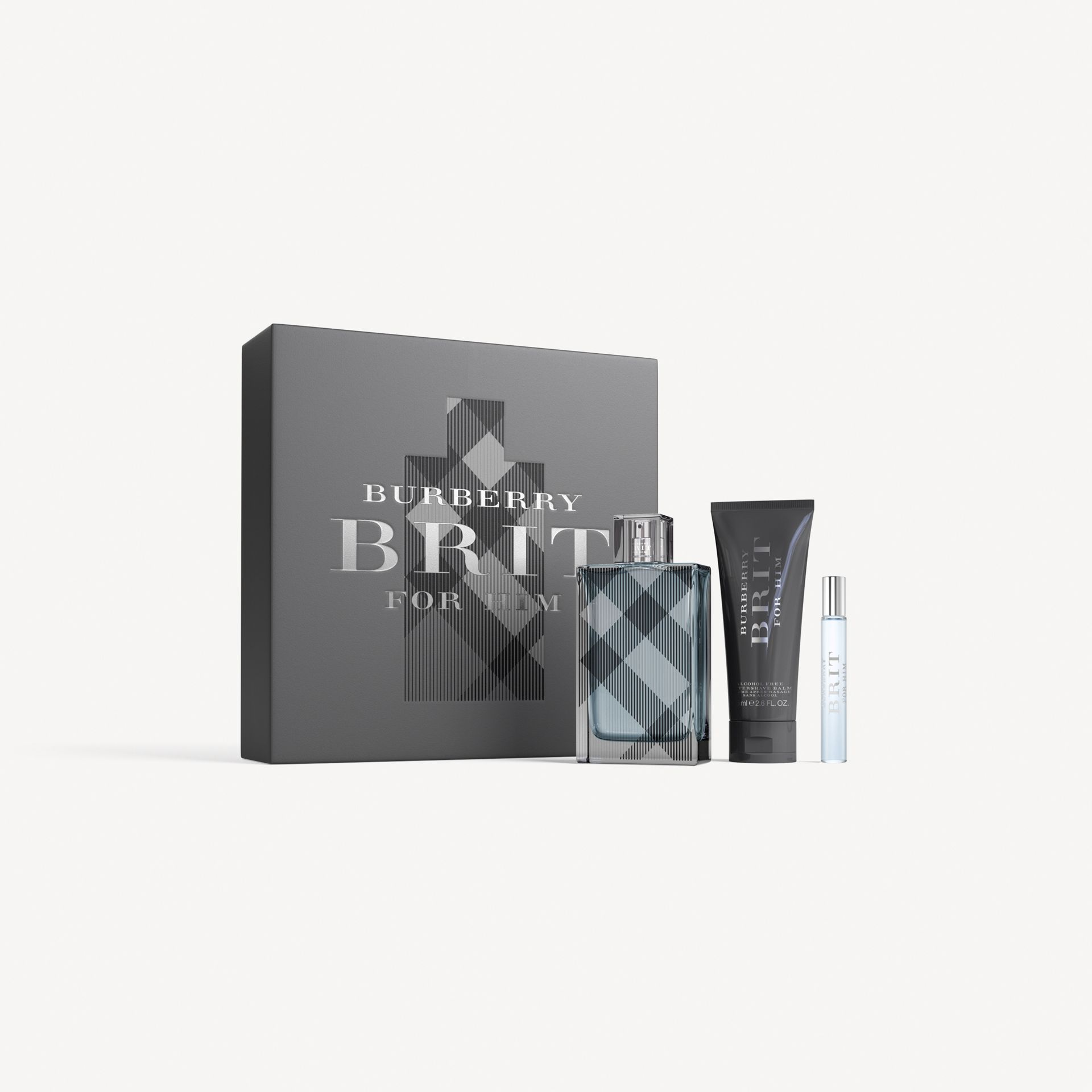Burberry Brit for Him Eau de Toilette Set in Black - Men | Burberry - gallery image 1