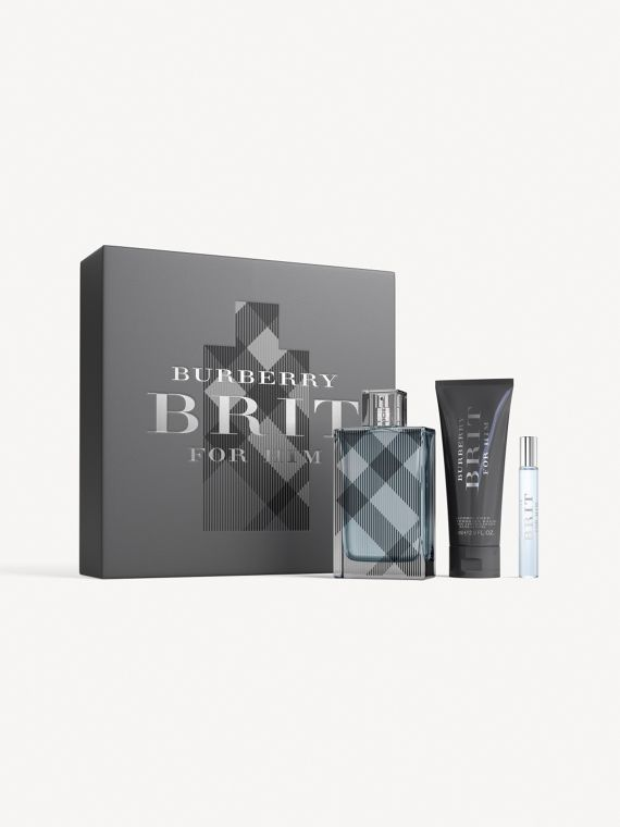 Set Burberry Brit for Him Eau de Toilette (Preto)