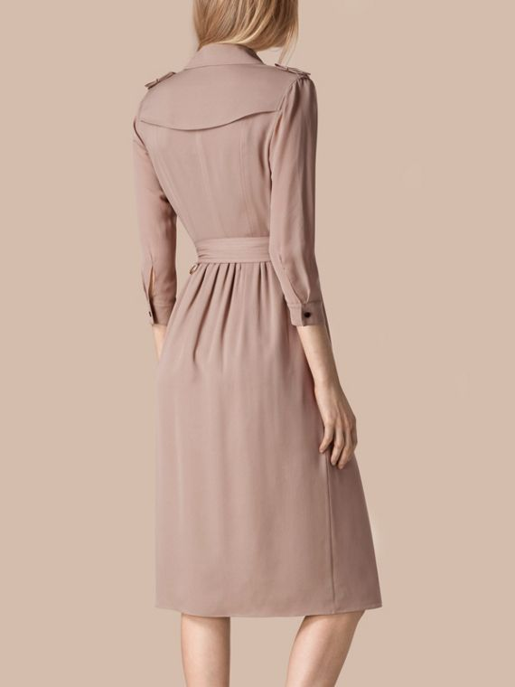 Silk Trench Dress Nude - cell image 2