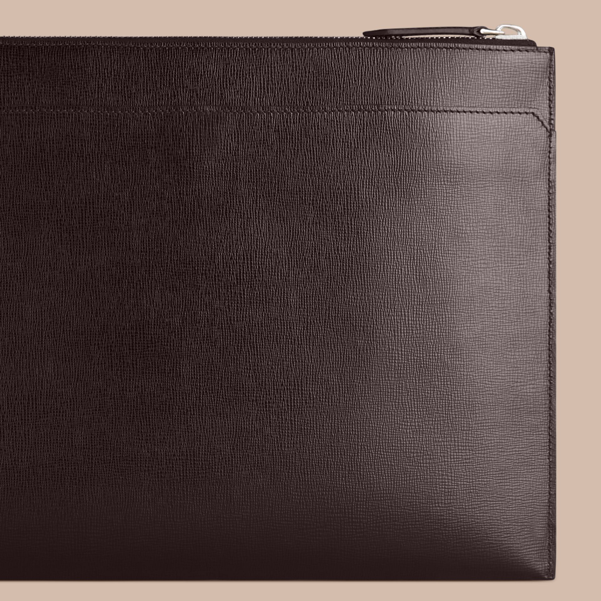 London Leather Document Case in Black - Men | Burberry - gallery image 2