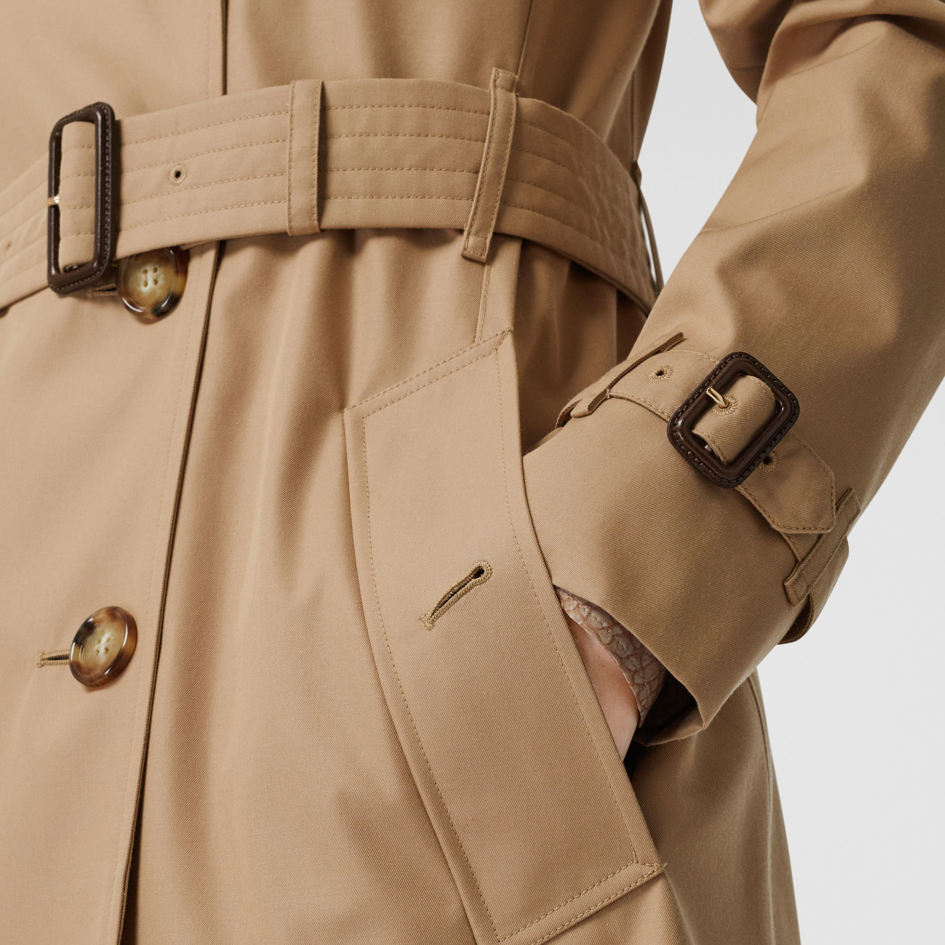 Cotton Gabardine Trench Coat in Biscuit - Women | Burberry - gallery image 5