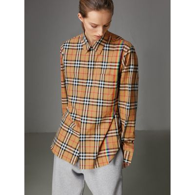 Check cotton shirt Burberry View Cheap Online Inexpensive Online Cheap Sale With Paypal Sale 2018 New XsftLV