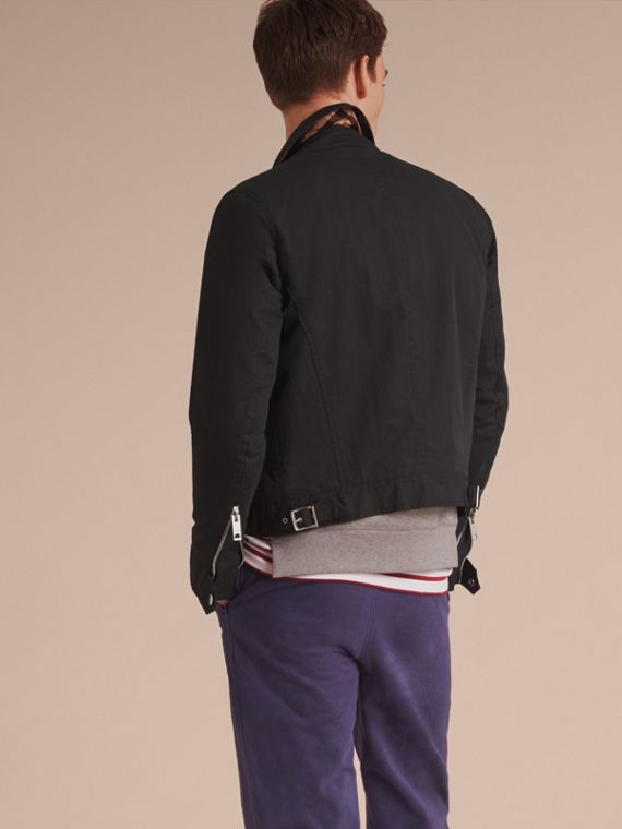 Cotton Blend Cropped Jacket - Men | Burberry - cell image 2