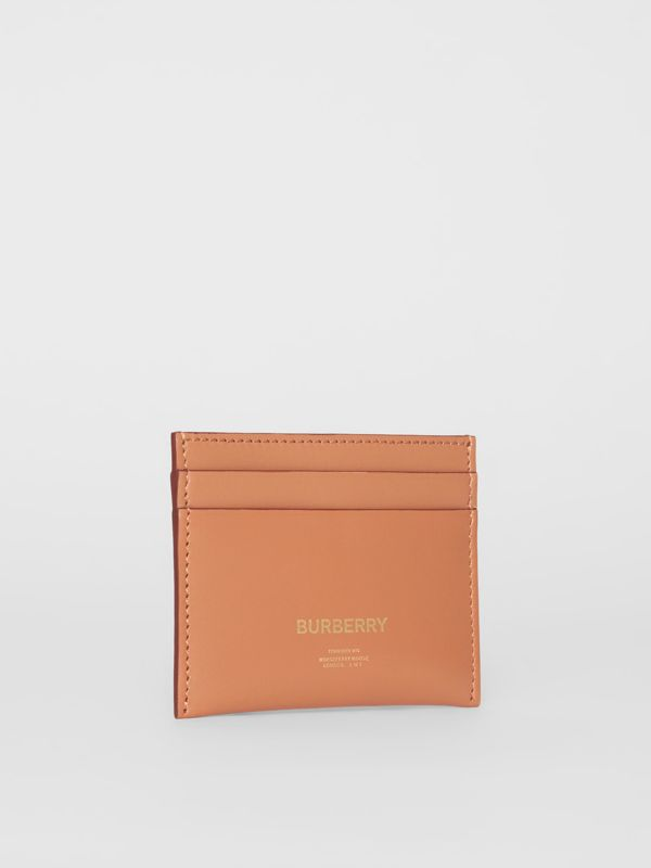 Horseferry Print Leather Card Case in Nutmeg | Burberry - cell image 3
