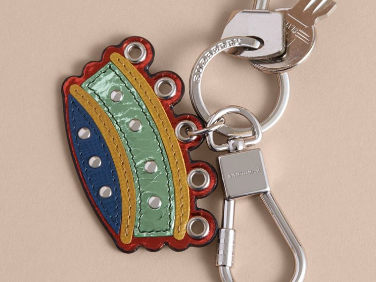 Snakeskin and Leather Crown Key Ring - cell image 2