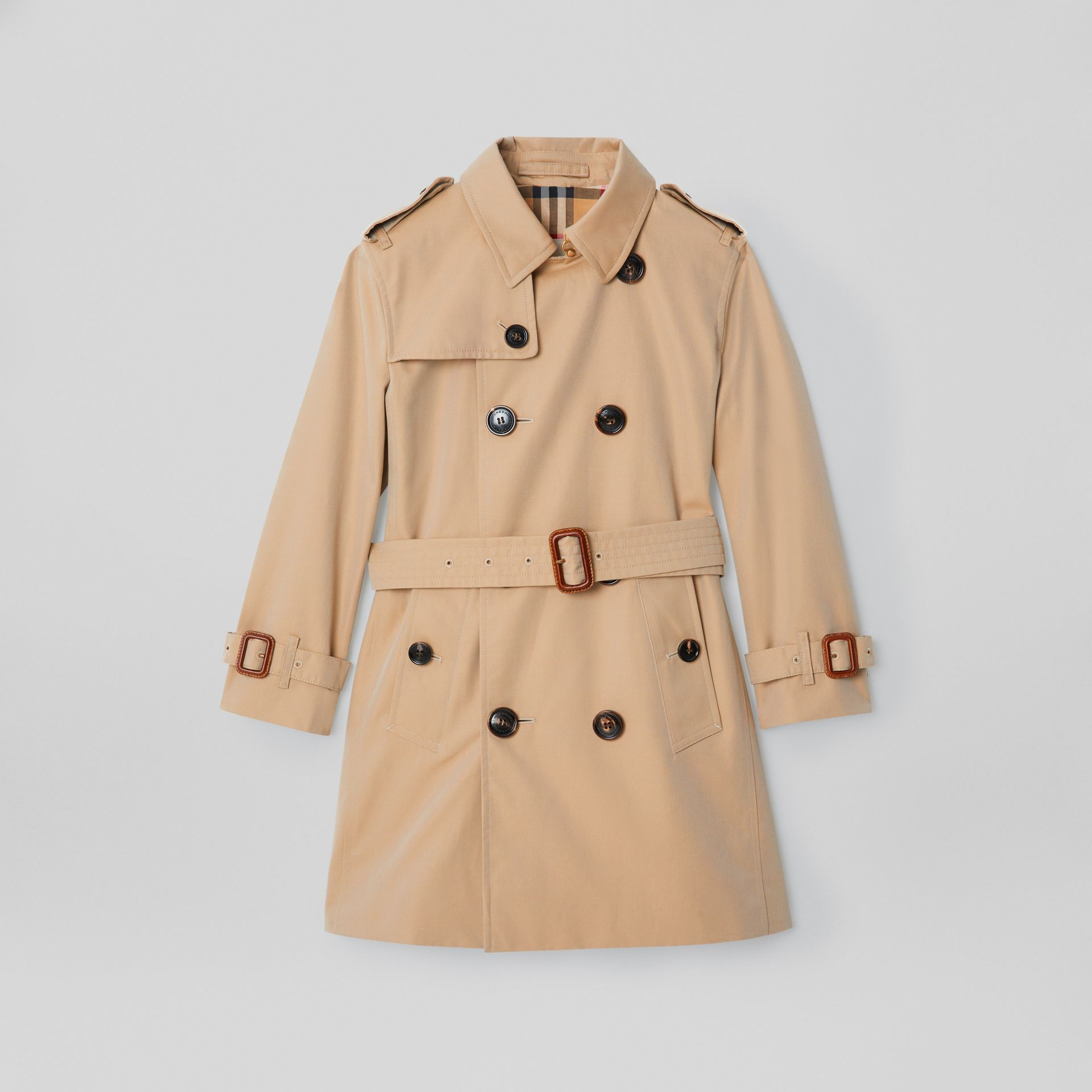 Cotton Gabardine Trench Coat in Honey | Burberry - gallery image 0