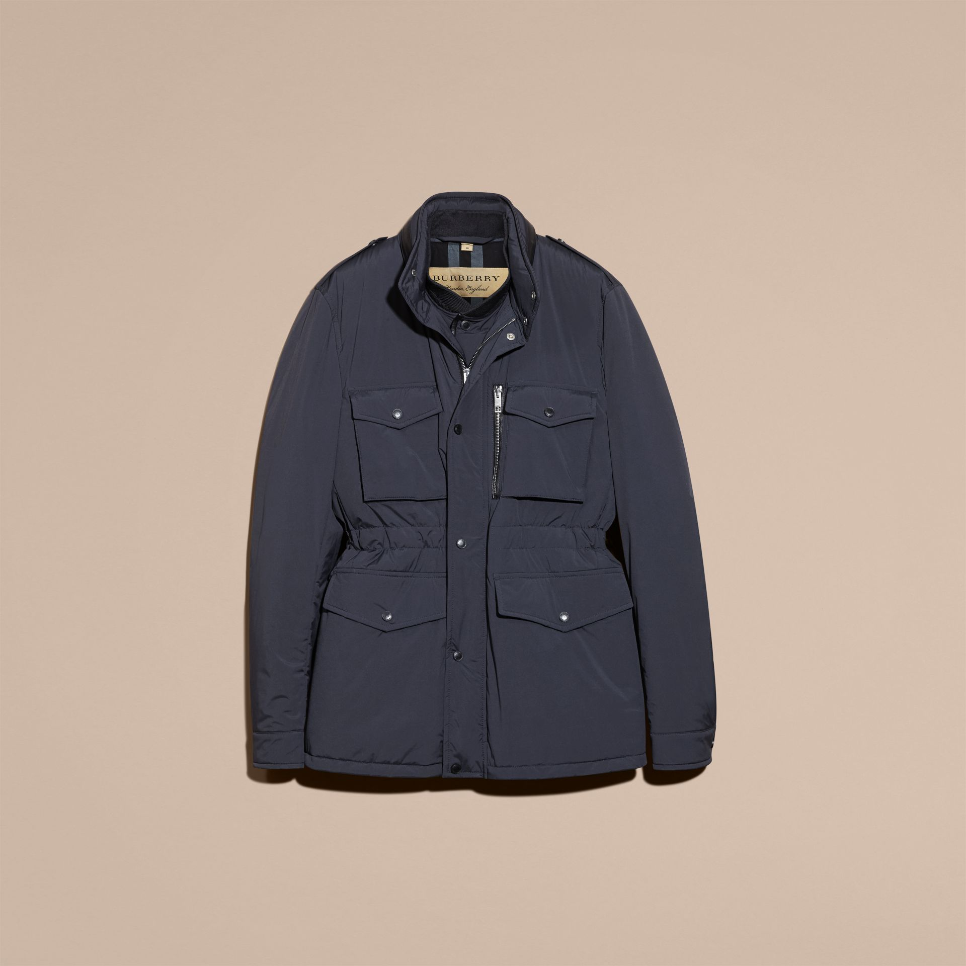 Navy Lightweight Field Jacket with Detachable Gilet - gallery image 4