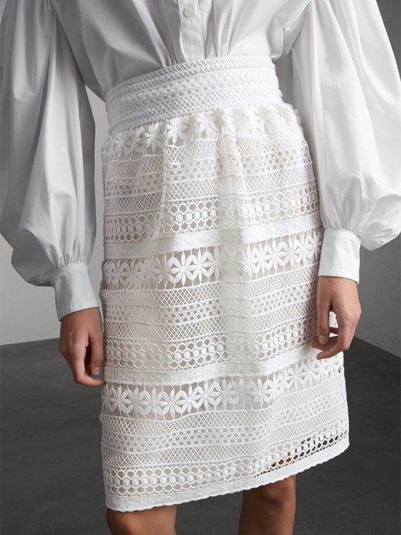 Macramé Lace Skirt - Women | Burberry