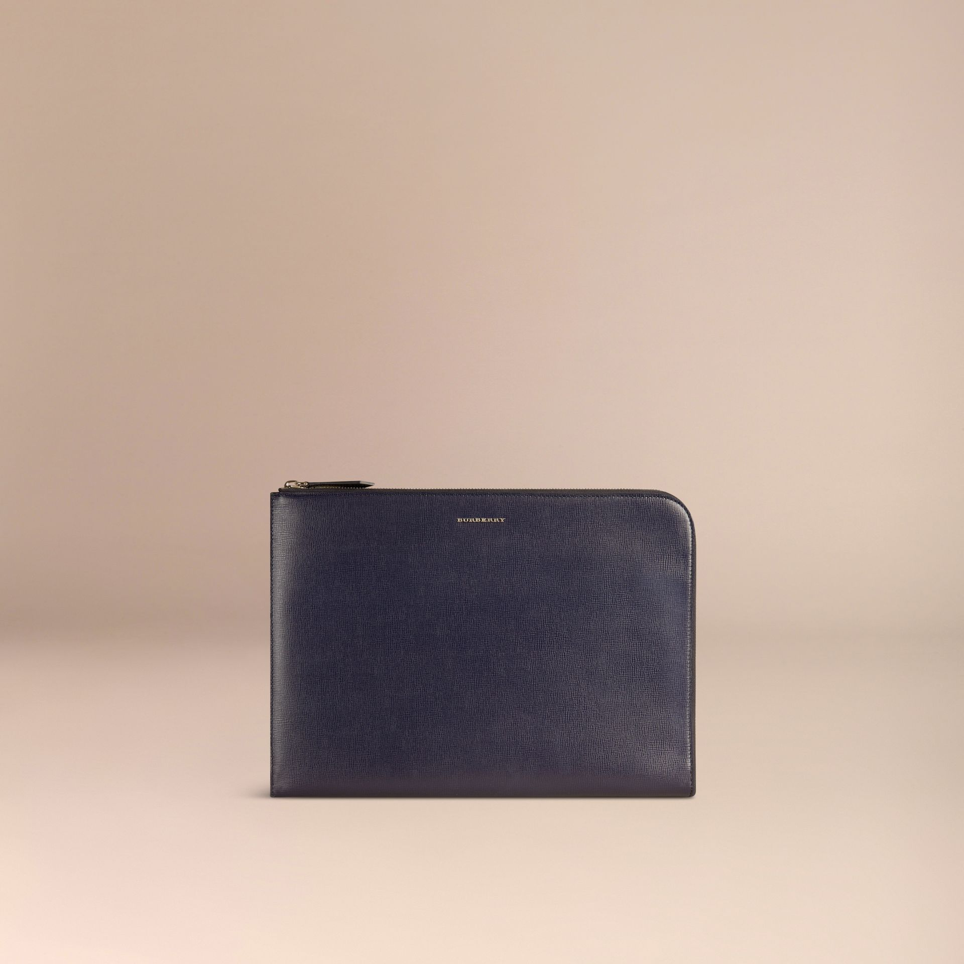 Dark navy London Leather Document Case Dark Navy - gallery image 5