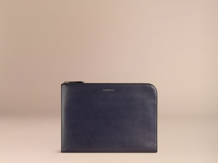 Dark navy London Leather Document Case Dark Navy - cell image 4