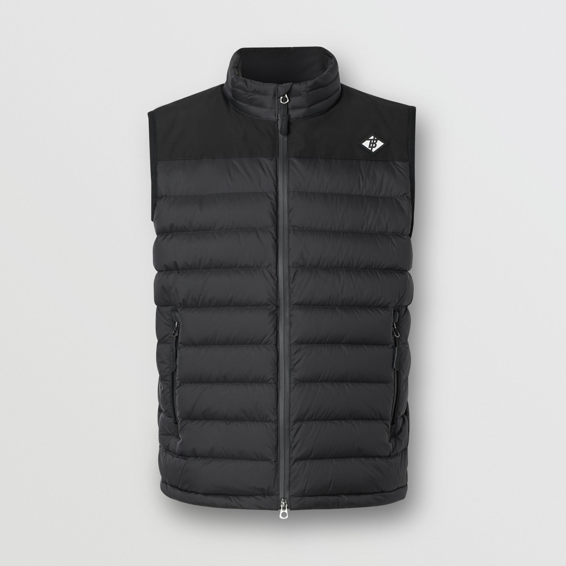 Logo Graphic Puffer Gilet in Black - Men | Burberry Canada - gallery image 3