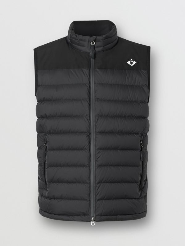 Logo Graphic Puffer Gilet in Black - Men | Burberry - cell image 3