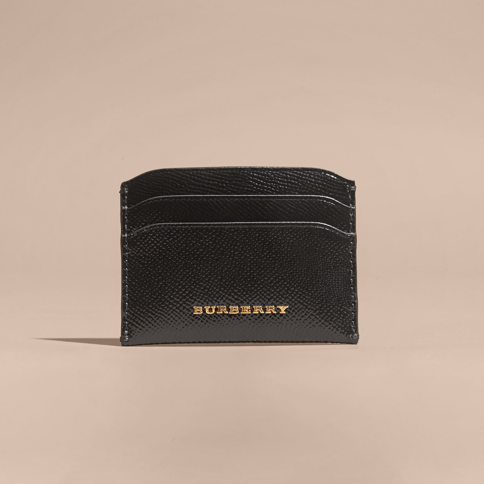 Black Check and Leather Card Case - gallery image 6
