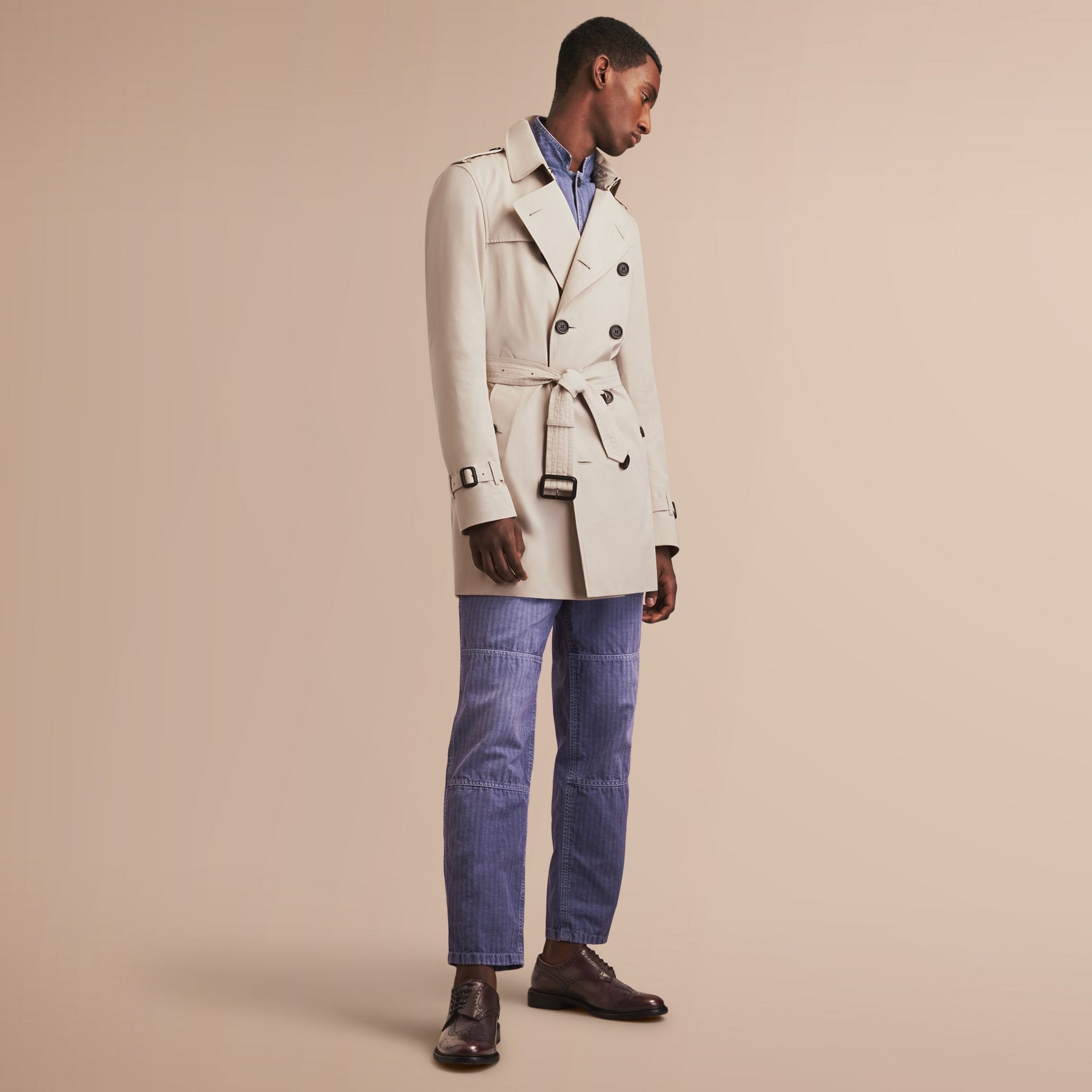 The Kensington – Mid-Length Heritage Trench Coat in Stone - gallery image 8