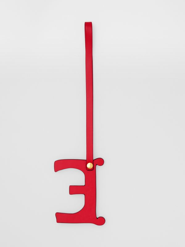 'E' Studded Leather Alphabet Charm in Red/light Gold - Women | Burberry - cell image 2