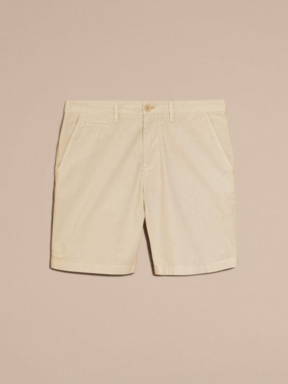 Cotton Poplin Chino Shorts in Stone - cell image 3