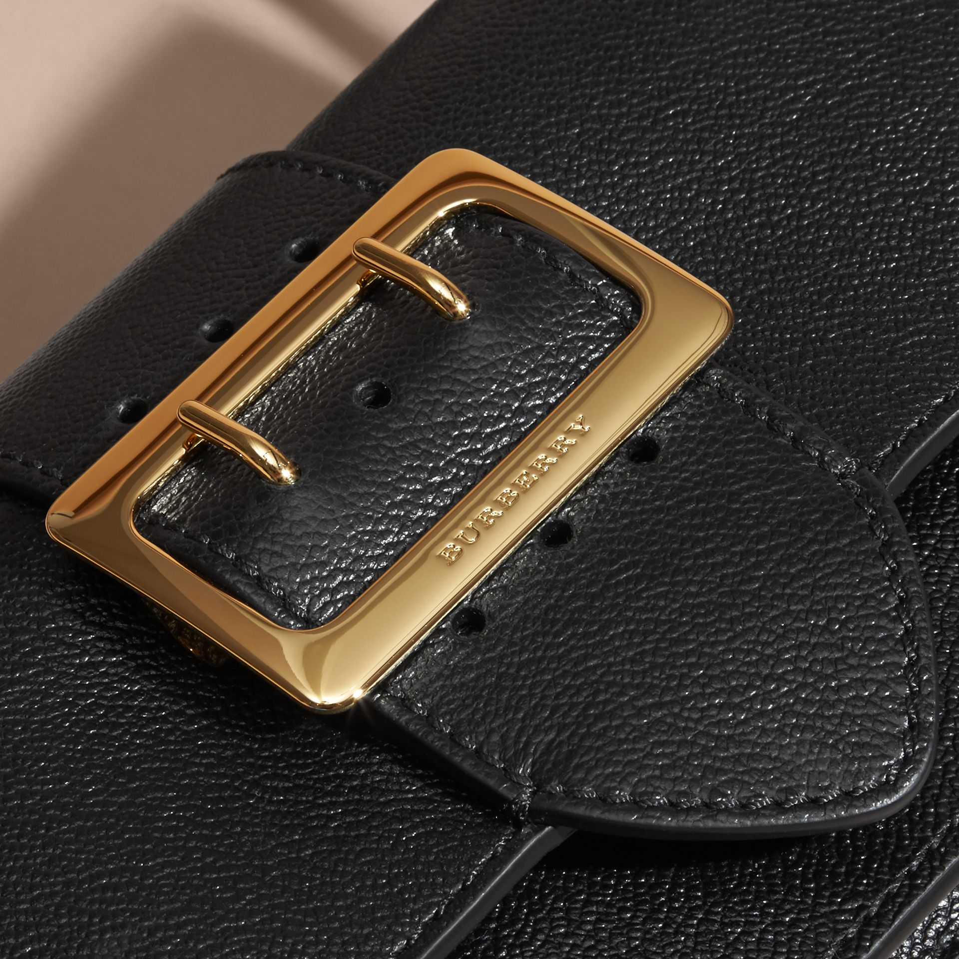 Black The Small Buckle Bag in Leather - gallery image 2