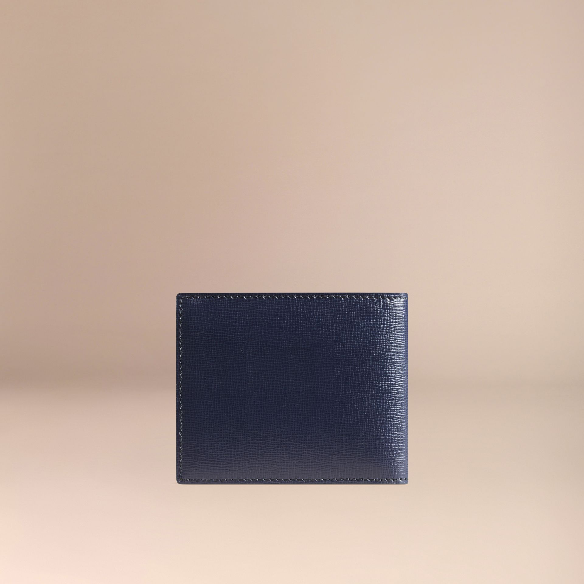 London Leather ID Wallet Dark Navy - gallery image 3