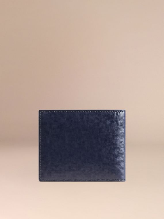 London Leather ID Wallet in Dark Navy - Men | Burberry - cell image 2