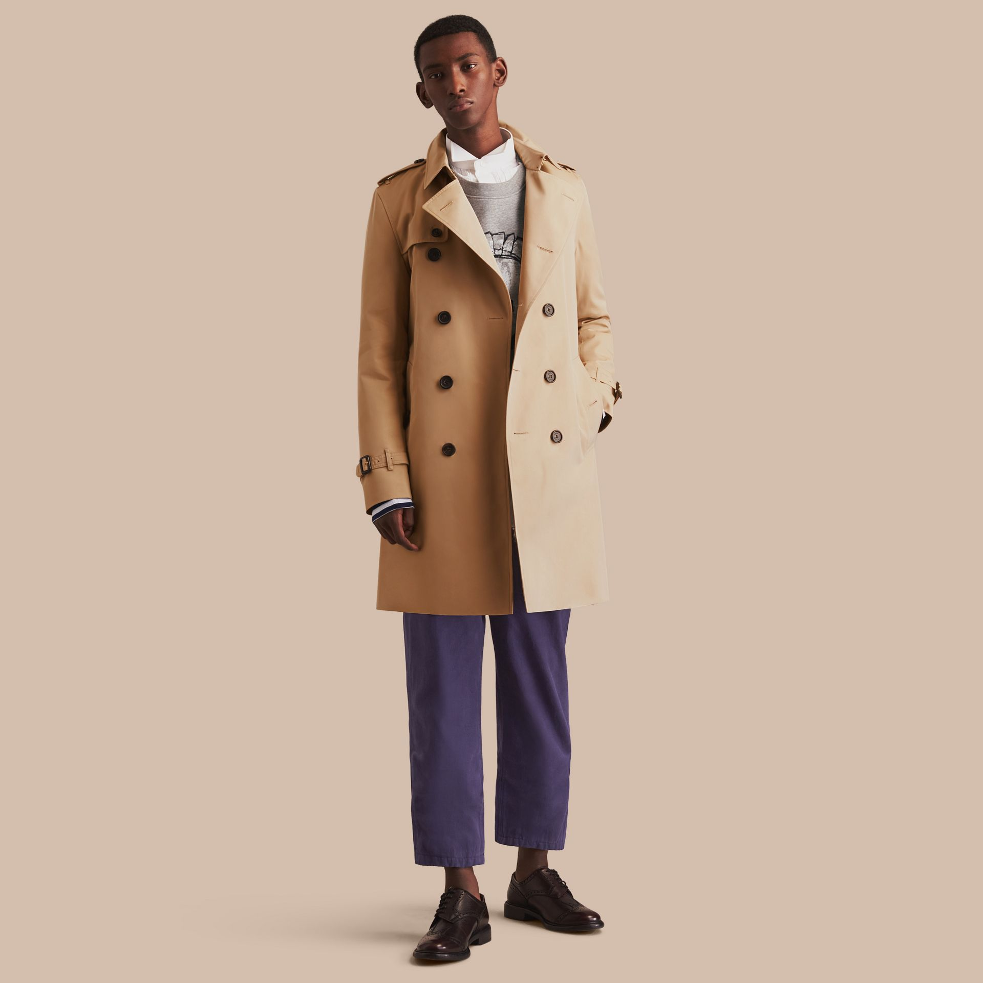 Miel The Kensington – Trench-coat Heritage long Miel - photo de la galerie 1
