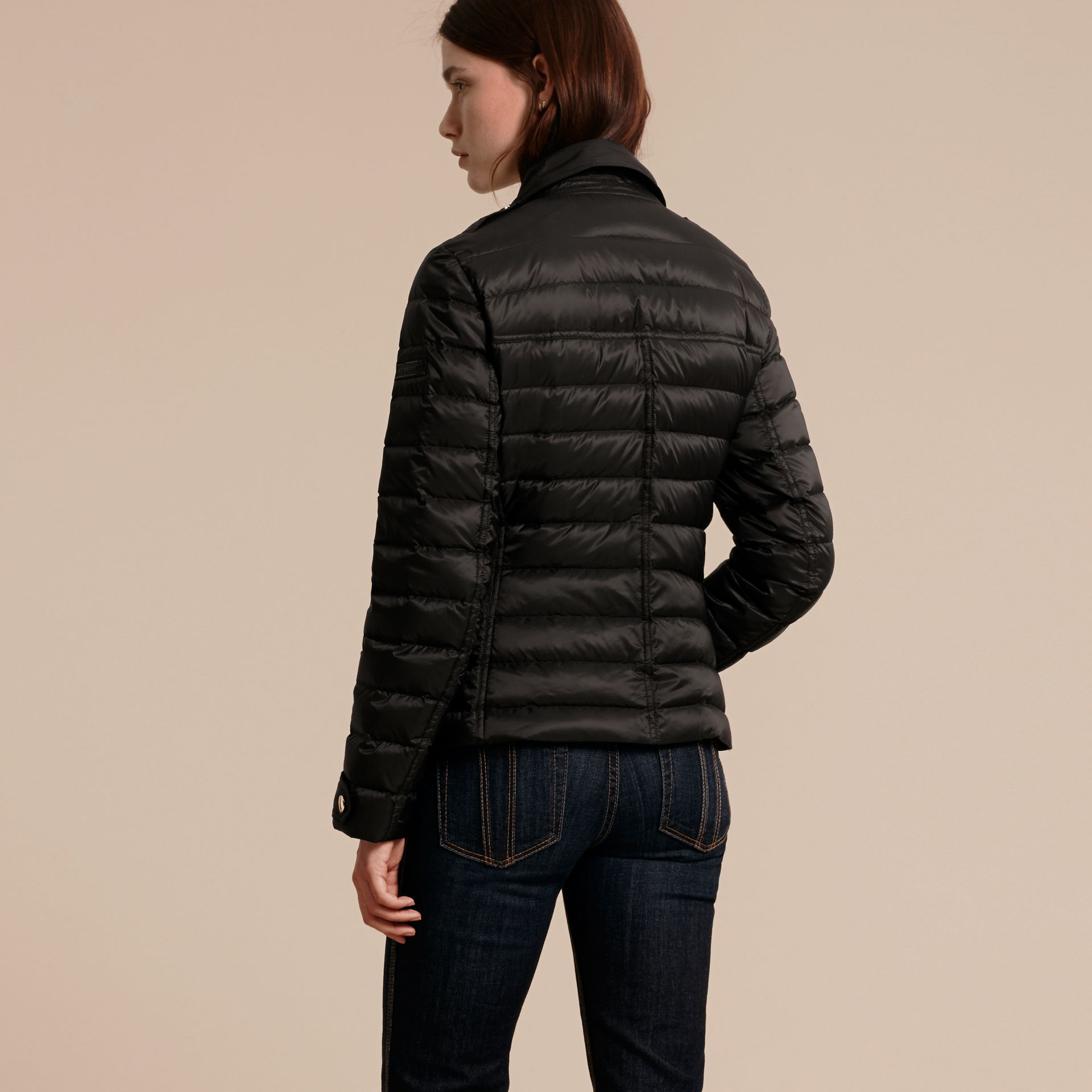 Black Lightweight Down-filled Puffer Jacket - gallery image 3