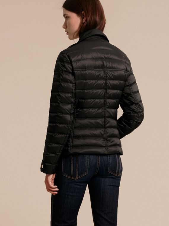 Black Lightweight Down-filled Puffer Jacket - cell image 2