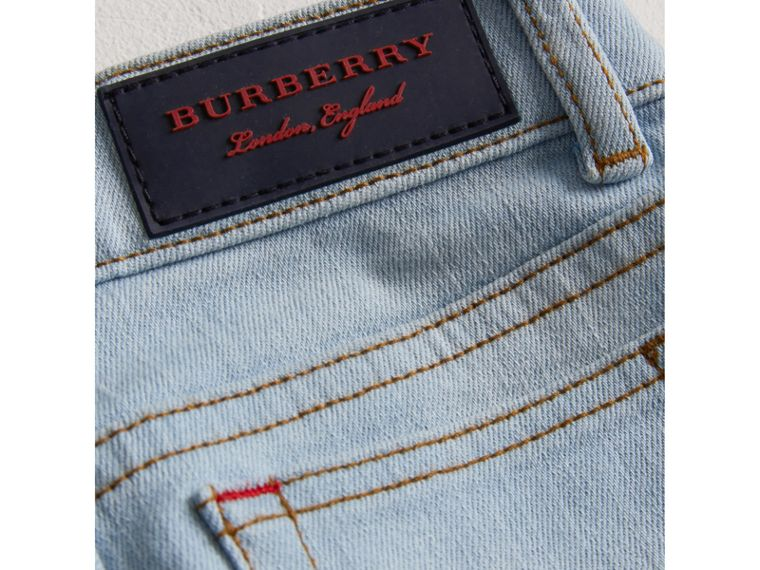 Relaxed Fit Stretch Jeans in Light Blue - Boy | Burberry - cell image 1
