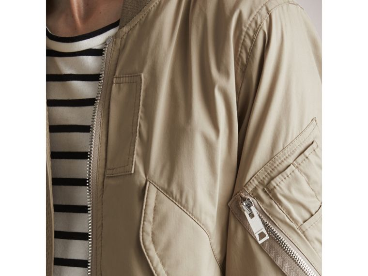 Cotton Blend Twill Bomber Jacket - Men | Burberry Singapore - cell image 1