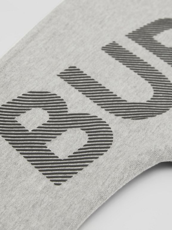 Logo Print Cotton Sweatshirt in Grey Melange/black   Burberry United States - cell image 1