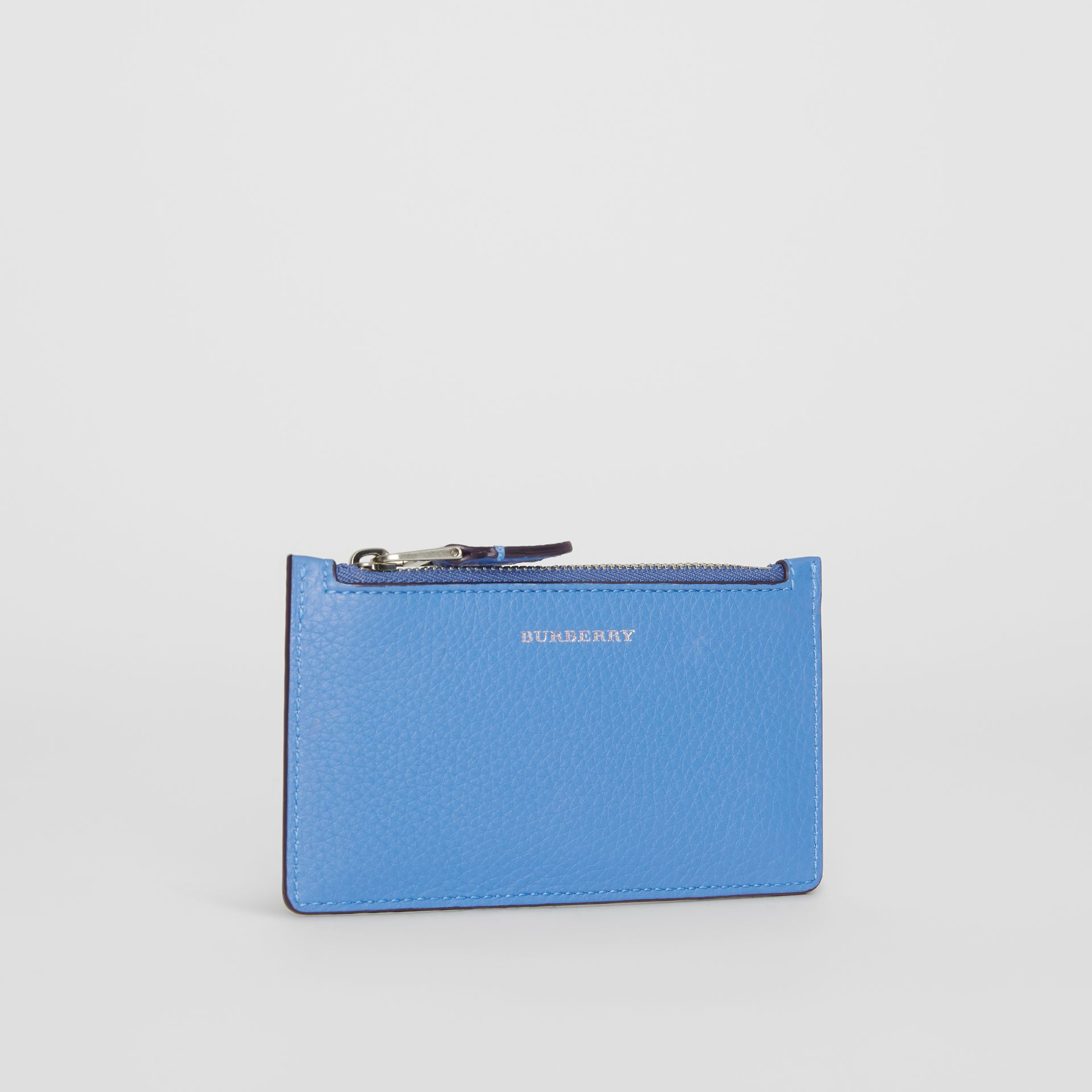 Two-tone Leather Card Case in Hydrangea Blue - Women | Burberry - gallery image 4