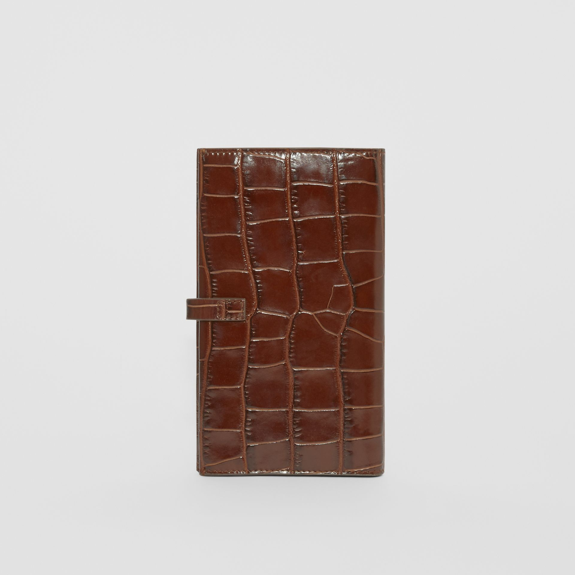 Monogram Motif Embossed Leather Folding Wallet in Tan - Women | Burberry - gallery image 5