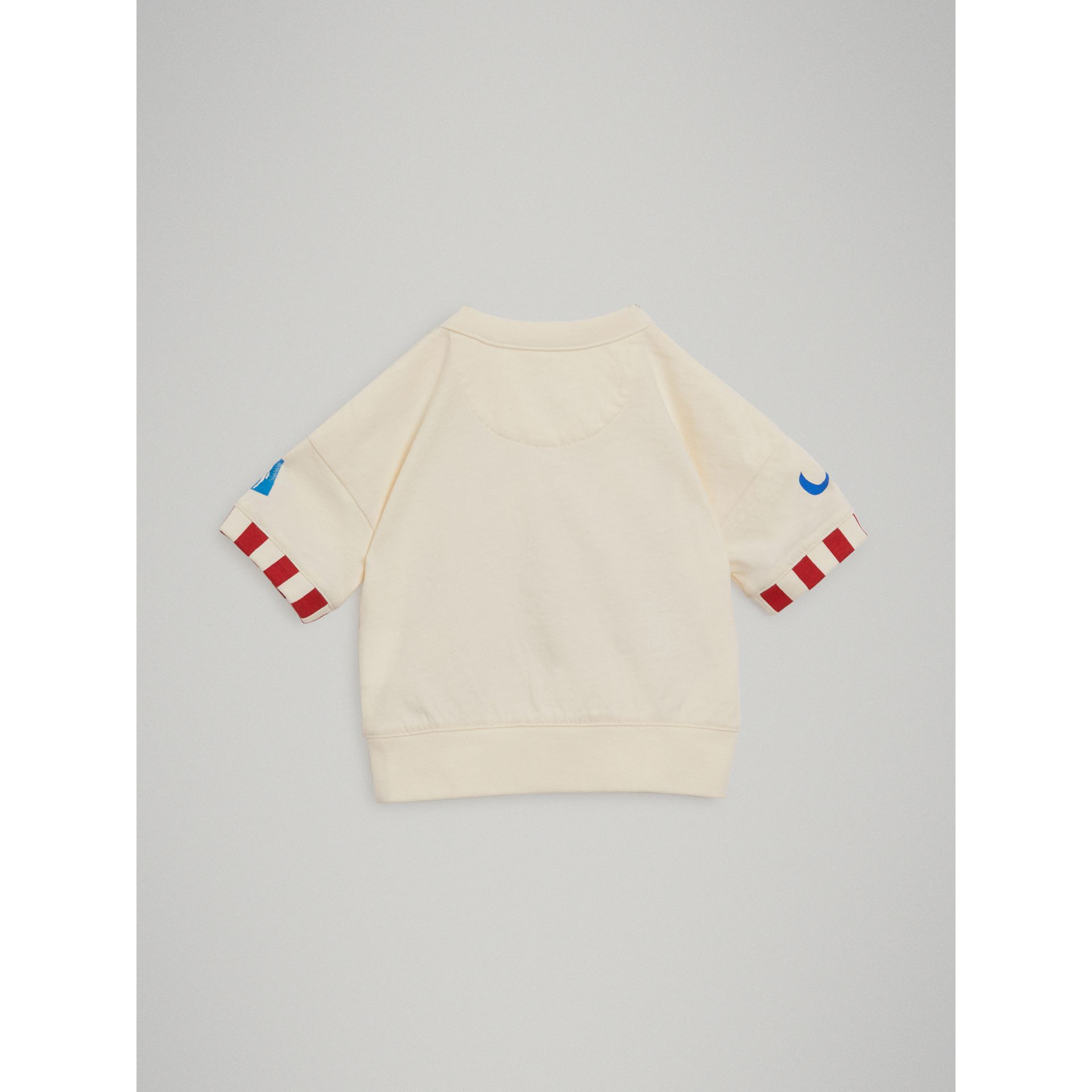 Postcard Motif Cotton T-shirt in Chalk White - Children | Burberry - gallery image 3