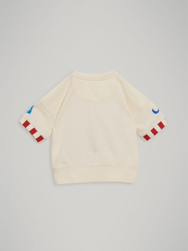 Postcard Motif Cotton T-shirt in Chalk White - Children | Burberry - cell image 3
