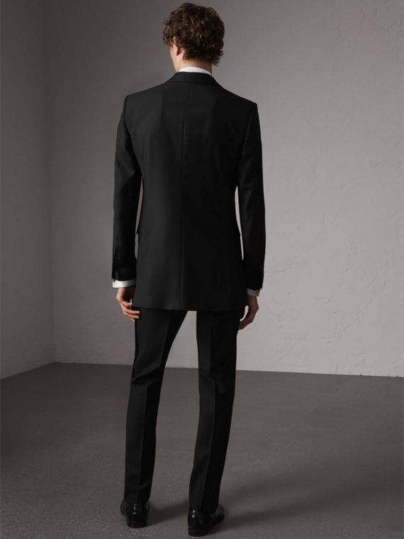 Modern Fit Wool Mohair Tuxedo in Black - Men | Burberry Singapore - cell image 2