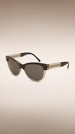 Gafas de sol con montura de ojo de gato en dos tonos