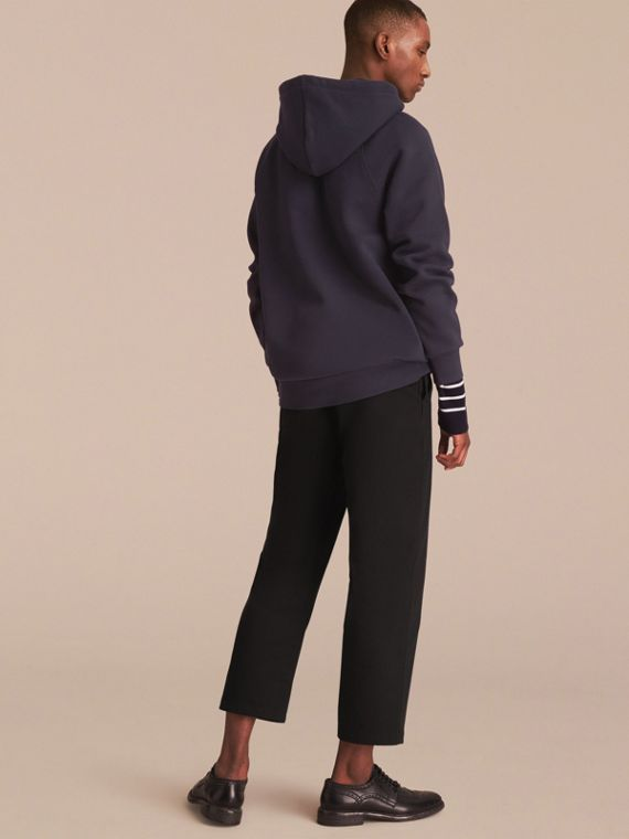 Embroidered Hooded Sweatshirt in Navy - cell image 2