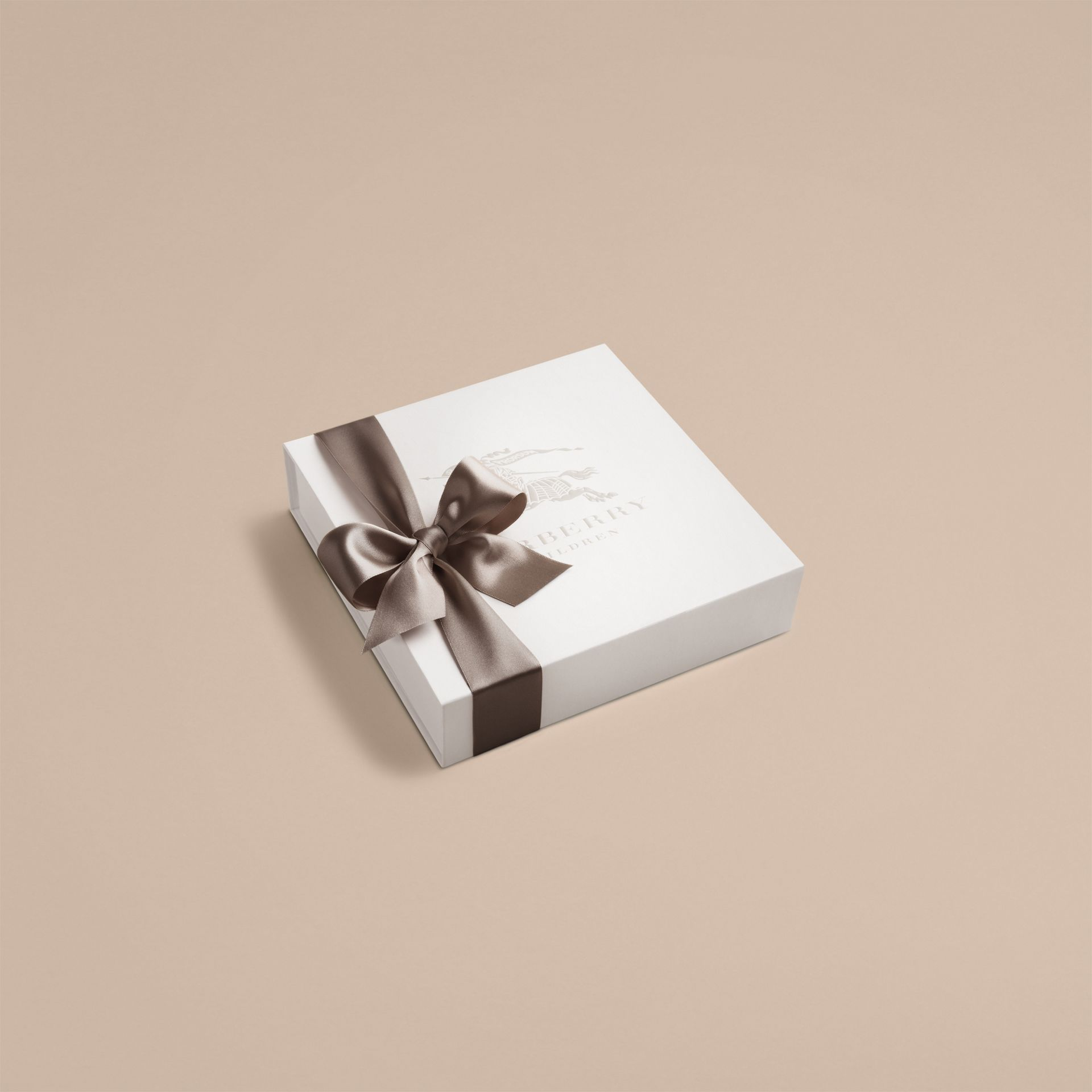 Cotton Three-piece Baby Gift Set in White | Burberry - gallery image 3