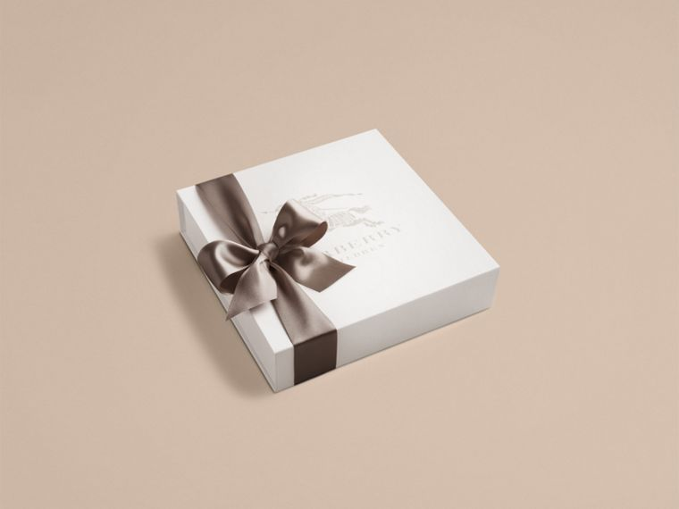 Cotton Three-piece Baby Gift Set in White | Burberry Canada - cell image 2