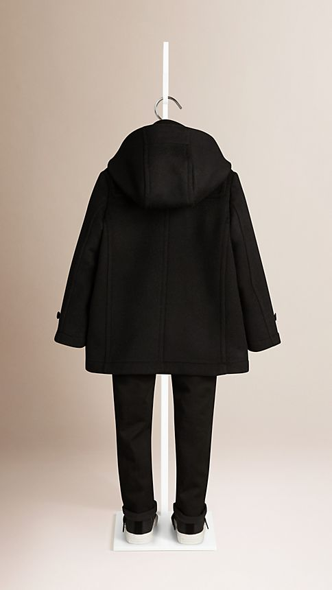 Black Wool Duffle Coat - Image 3