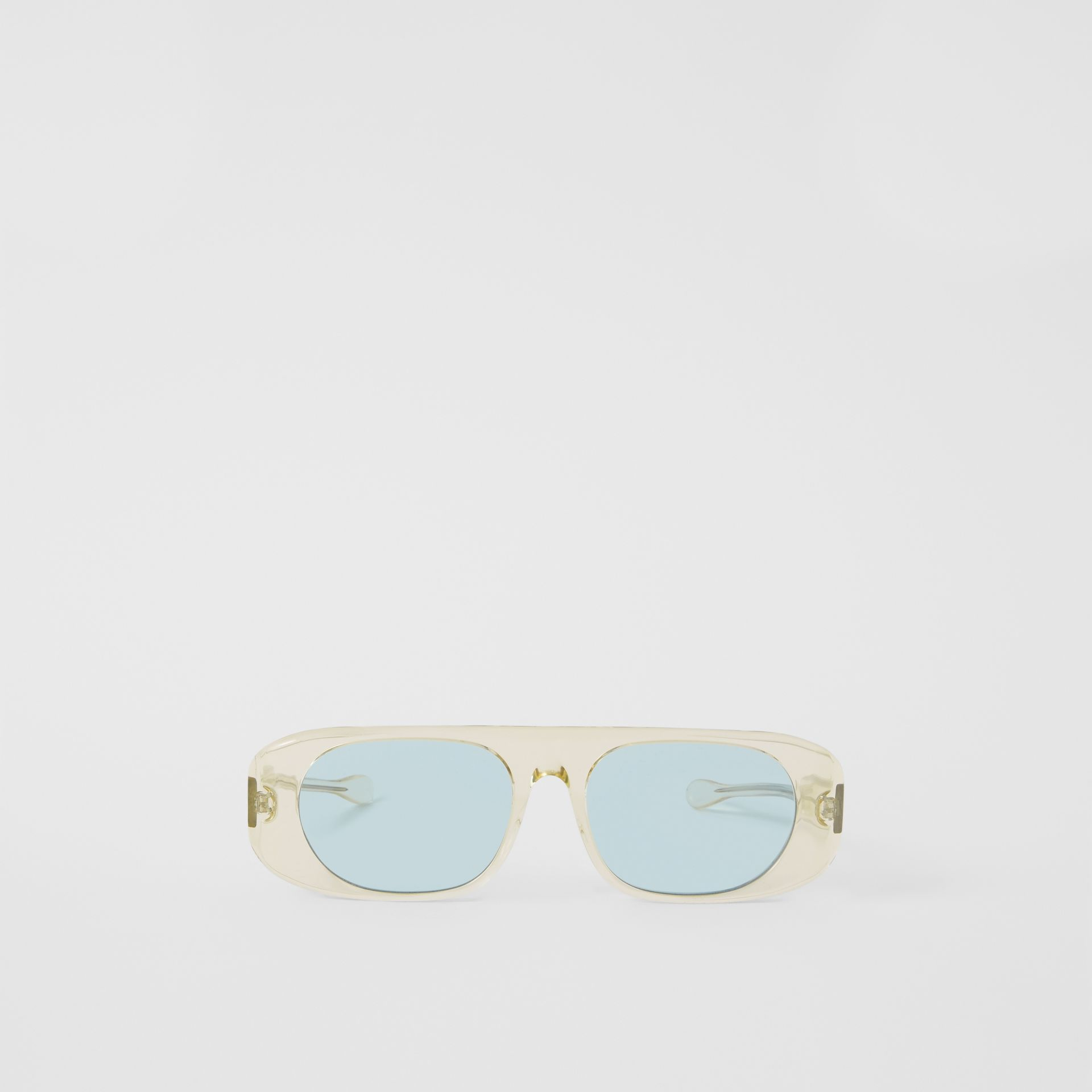 Blake Sunglasses in Transparent Champagne | Burberry - gallery image 0