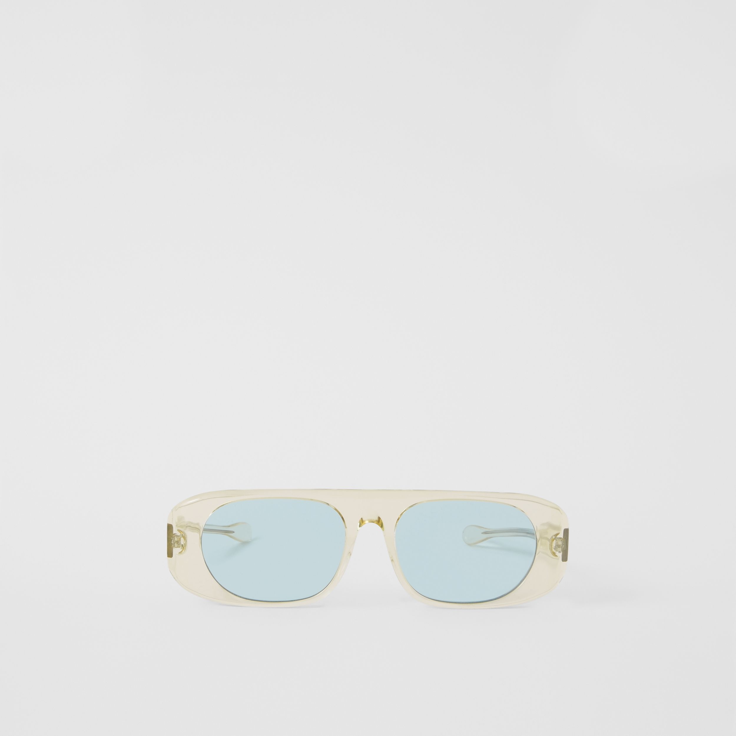 Blake Sunglasses in Transparent Champagne | Burberry United States - 1
