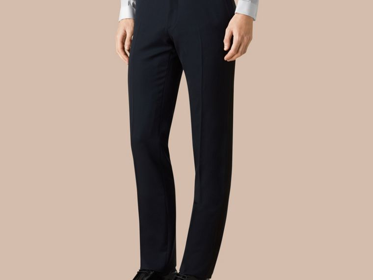 Modern Fit Virgin Wool Half-canvas Tuxedo - Men | Burberry - cell image 4