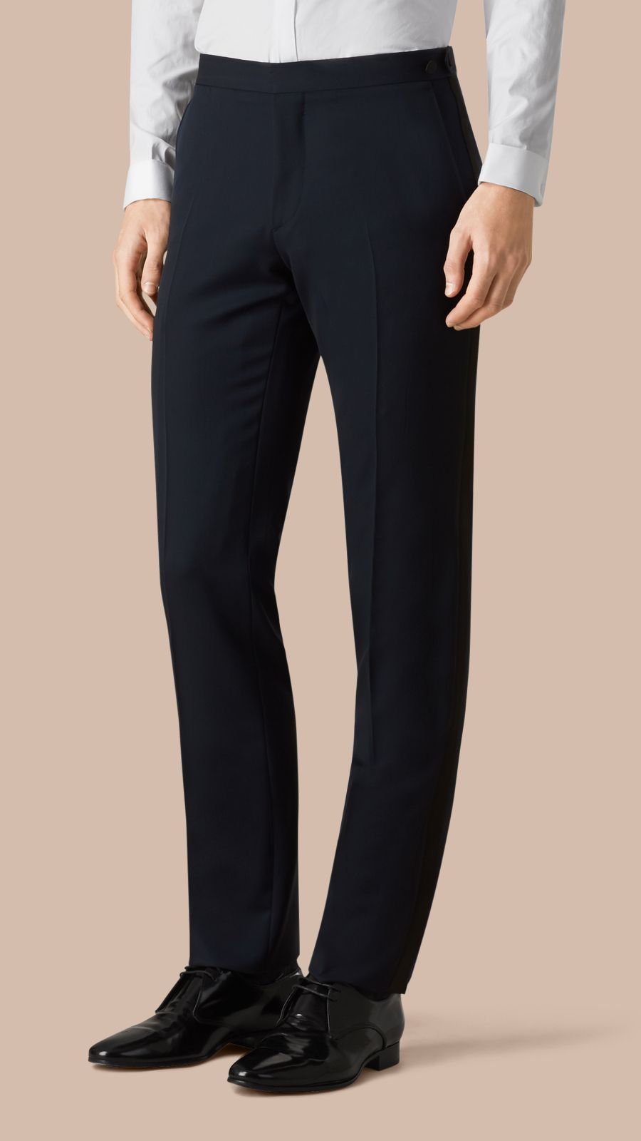Navy Modern Fit Virgin Wool Half-canvas Tuxedo - Image 4