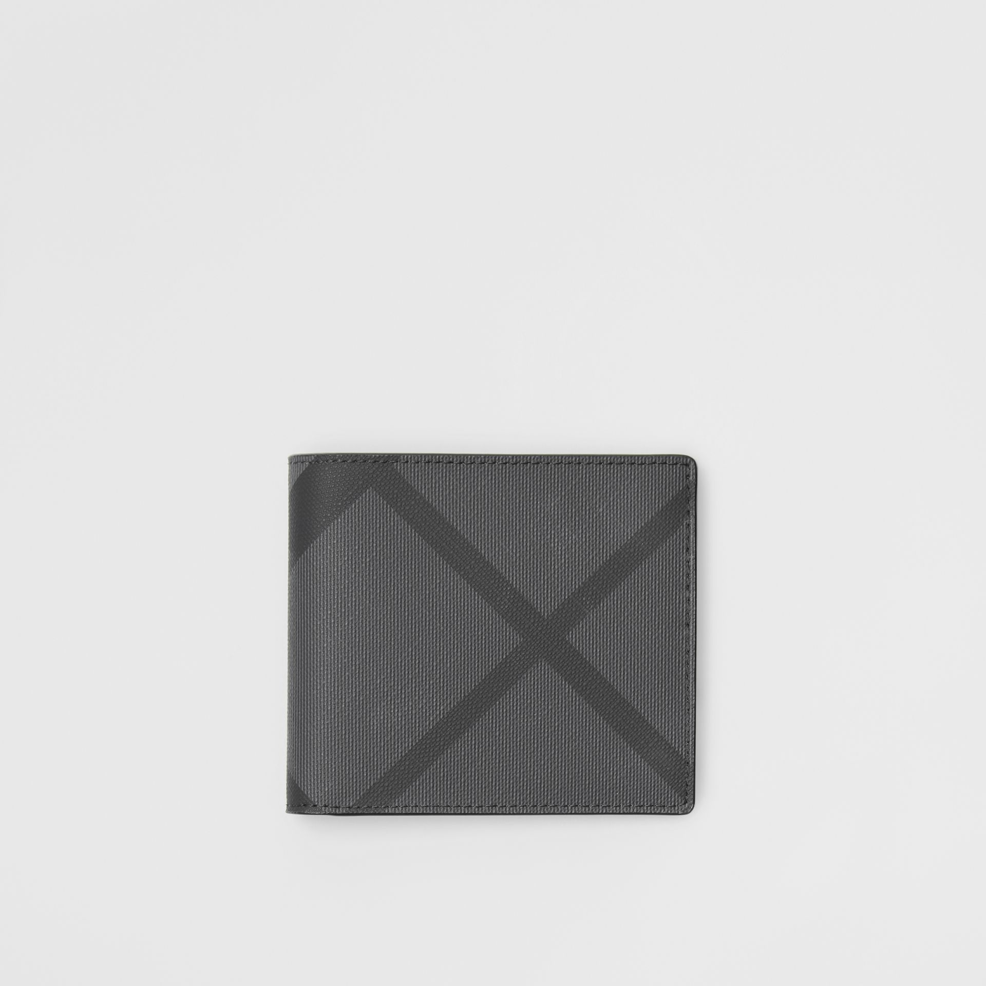 London Check ID Wallet in Charcoal/black - Men | Burberry - gallery image 0