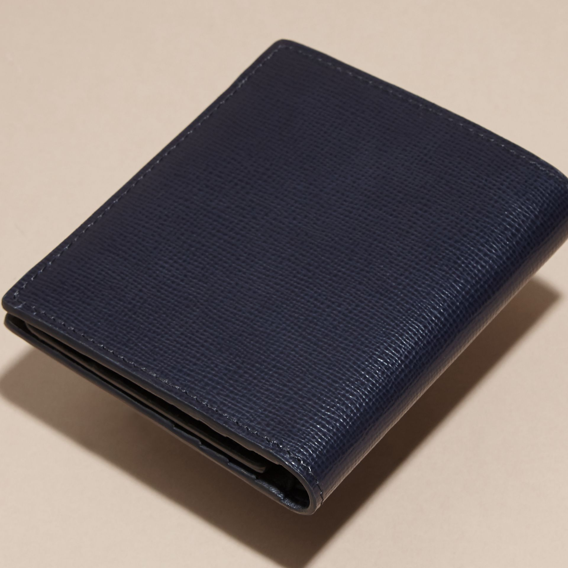 Dark navy London Leather ID Wallet Dark Navy - gallery image 4
