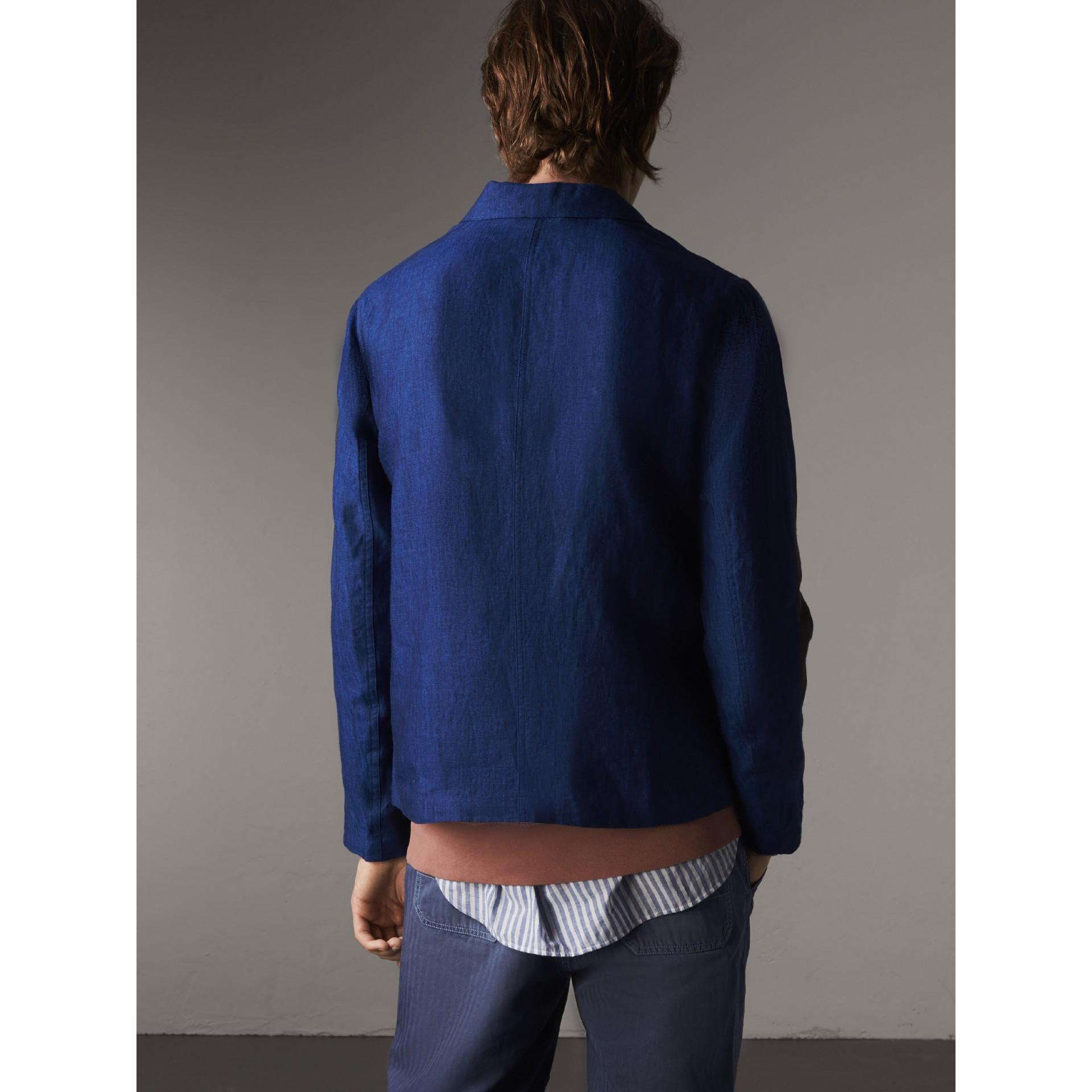 Arbeitsjacke aus Leinen (Stahlblau) - Herren | Burberry - Galerie-Bild 3