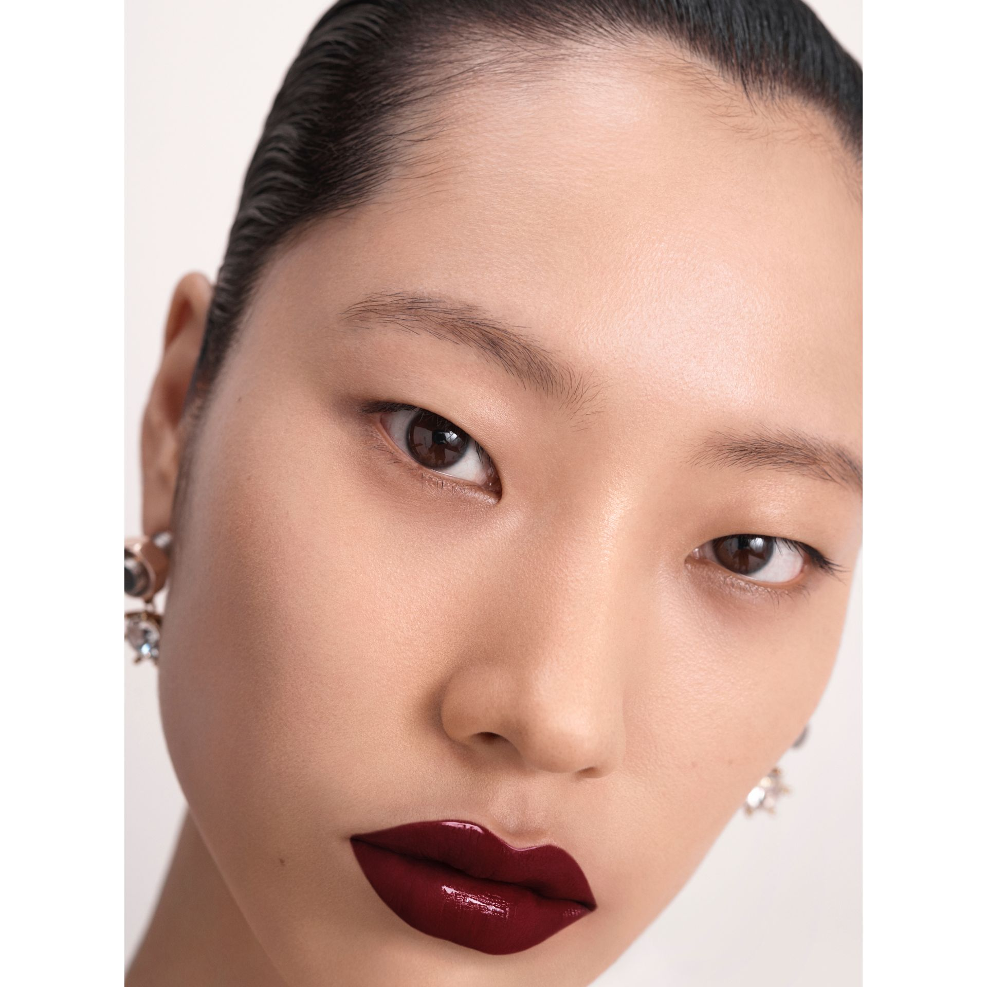 Burberry Kisses Lip Lacquer – Black Cherry No.57 - Women | Burberry - gallery image 6