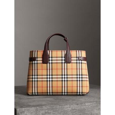 Burberry - Sac TheBanner moyen en cuir et à motif Vintagecheck - 7